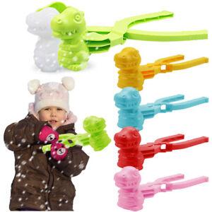 Dinosaur Shaped Snow Snowball Maker Clip Sand Mold Tool Winter Kids Outdoor Toys