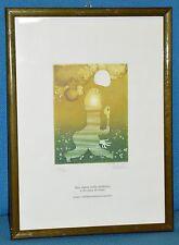 ANTICO QUADRO Pedroli INCISIONE epoca 1984 MILANO litografia ASTRATTO dipinto