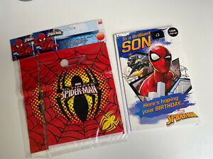 Spiderman Birthday Card & Party Bags