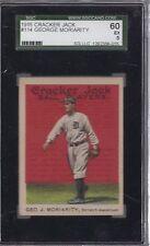 1915 CRACKER JACK #114 GEORGE MORIARITY SGC 60 EX 5 ~Detroit Tigers~
