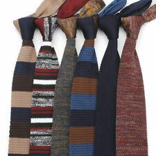 Lot 6 Pack Men's Knit Neck Tie Striped Skinny Slim Knitted Necktie Knitting Ties