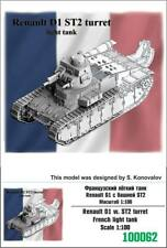 """ZEBRANO"" 100062 Renault D1 w. ST2 turret French ligh tank 1/100"