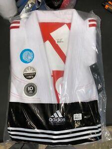 adidas Contest 2.0 Jiu Jitsu Gi A4 White w/ Red Stripes