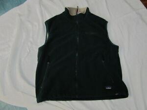 Preowned Men's Size L Vintage L.L. Bean Green Fleece Vest - Malden Mills Fabric