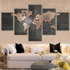 5pcsset canvas paintings picture print unframed world map art home wall decor