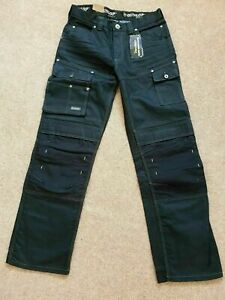 Dunlop Safety Foreman Jeans Workwear Trousers Work Cargo Pants Navy W28 XS B1517