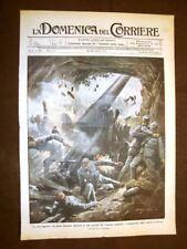 Copertina La Domenica del Corriere 30 aprile 1916 Pezzo d'Austria Trentino WW1