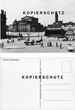 Dresden Theaterplatz Semperoper Straßenbahn DDR-Nachdruck-AK (*2689)