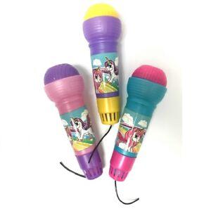 2 x Unicorn Magic Microphone Activity Childrens Toy Mic Kids