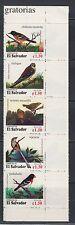 El Salvador 1996 Birds Sc 1446 Strip of 5 mint never hinged