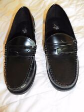 NIB - Michael James Boys Black Slip On Dress Shoes Penny Loafers - 5 1/2 M