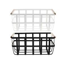 Maku Metal Storage Baskets Kitchen Pantry Storage 25X23X8CM / Black