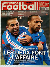 FRANCE FOOTBALL 22/03/2005; Trezeguet-Henry/ Frei, un Buteur venu de Suisse