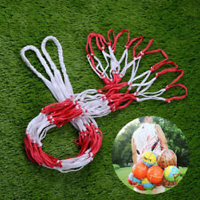 White Red Basketball Storage Bag Football Soccer Sports Ball Mesh Net Nylon H