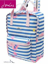 Joules Easton Printed Backpack - Mid Blue Floral Ruck Sack
