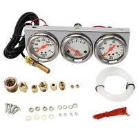 3in1 52mm Oil Pressure Water Temperature Gauge Voltmeter Car Motorcycle Meter 00