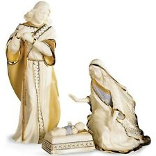 Lenox First Blessing Porcelain 3-Piece Hand-Painted Nativity Set, Holy Family