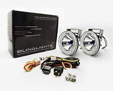 "BlingLights 4"" 101mm Round Blue Angel Eye Fog Lamps Driving Lights Kit 70w"
