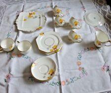 Rare Vintage Art Deco Paragon China by appointment tea set, autumn leaves design