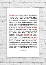 The 1975 - Sex - Song Lyric Art Poster - A4 Size