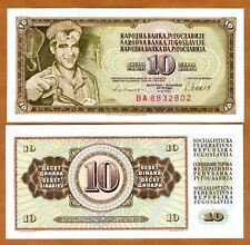 Yugoslavia, 10 Dinara, 1981, P-87b, Unc > Steelworker