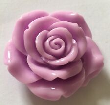 4 x Extra Large Resin Flowers with hole - 42mm - Lilac - Crafts