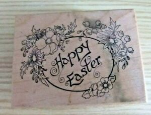 PSX ~ PSX F-657 Happy Easter ~ Rubber Stamp D1