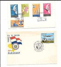 PARAGUAY-2 giant covers & 2 'normal' size covers-aviation/space pre-dominates