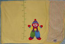 Gymboree Yellow Cotton Baby Blanket Gymbo Clown Ruler Measurements Stripes