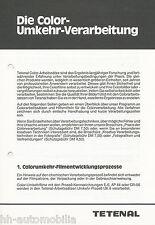 Prospectus tetenal Color inversion traitement 80er ans brochure fotochemikalien