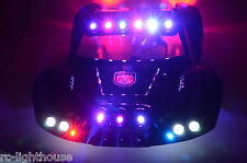 For Traxxas Slash 4x4 2WD RC10 Police LED Lights Cop Black #36