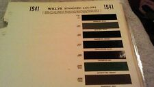 1941 Willys   paint chart