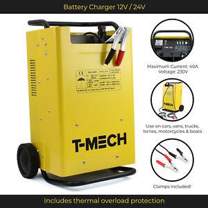 Car Battery Charger Van Jump Starter Vehicle HGV Power Booster 12/24V Portable