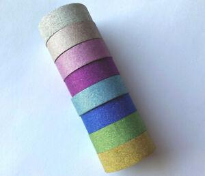 10m Glitzer Washi Masking Tape Klebeband Dekoband selbstklebend