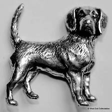 Foxhound Beagle Pewter Pin Brooch - British Hand Crafted - Fox Hunting Dog