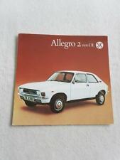 AUSTIN ALLEGRO 2 1100DL Car Sales Brochure 1976 DUTCH TEXT #LI63A