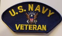 US NAVY VETERAN PATCH - MADE IN THE USA!