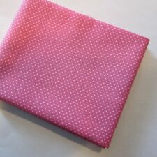 Fat Quarter Cotton Fabric Quilting Material Pink with Small White Dots