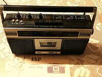 ISP Tragbarer Stereo-Radio-Recorder STR-793 Netz-& Batterie-Betrieb+ Bedienungs