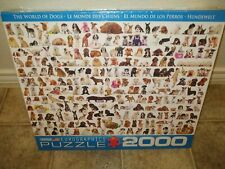 NEW The World of Dogs Puzzle 2000 Piece Eurographics Puzzle Dog Puppy Jigsaw