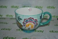 ARTISTIC ACCENTS POTTER'S STUDIO MUG Dutch WAX FRENCH NOUVEAU Embossed Footed