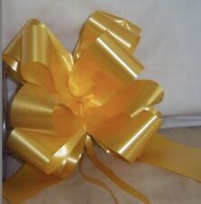 12 Pull Bows 50mm Gold/yellow Wedding Car Gift Wrap Bow