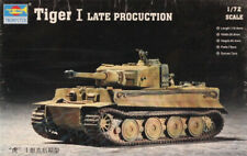 Trumpeter 1:72 WWII German Tiger I Late Production Plastic Model Kit #07244