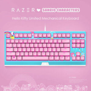 New FOR Razer x Sanrio Blackwidow X Tournament Mechanical Hello Kitty¹ Keyboard