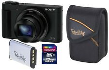 Sony Cybershot DSC-HX90V SET + 32GB + 2. Akku + Tasche ! HX90 V + Zubehörpaket !