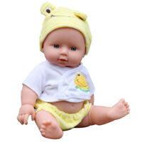Newborn Baby Doll Gift Toy Soft Vinyl Silicone Lifelike Newborn KidsToddler Girl