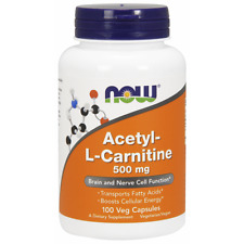 Acetyl-L-Carnitine, 500 mg, 100 Veg Caps Now Foods