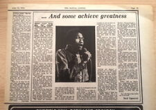 JIMMY CLIFF 'Struggling Man' album review 1974 ARTICLE / clipping