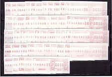 Sammlung Schweiz ATM Frama Schalterfreistempel 49 Stück postfrisch
