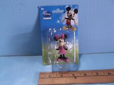 "Disney's Minnie Mouse Figure or Cake Topper 2.5""in PVC  New in Re-Glued Package"